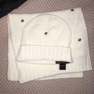 VICTORIA'S  SECRET SPARKLE HAT & SCARF SET NWT